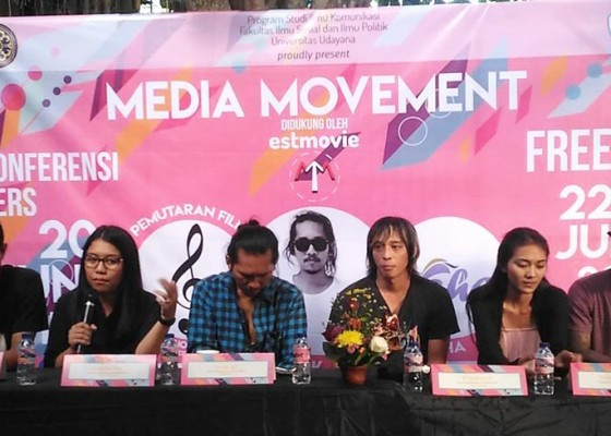 Nusabali.com - media-movement-bertema-deliver-the-message-digelar-di-taman-jepun-denpasar