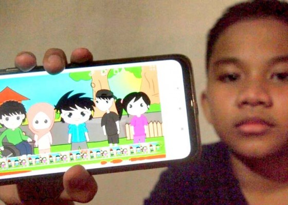 Nusabali.com - pelajar-smp-negeri-i-kuta-garap-animasi