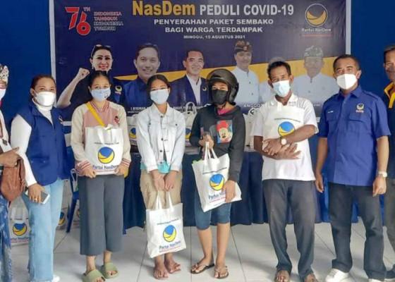 Nusabali.com - meriahkan-hut-ri-nasdem-tabanan-berbagi-ratusan-sembako