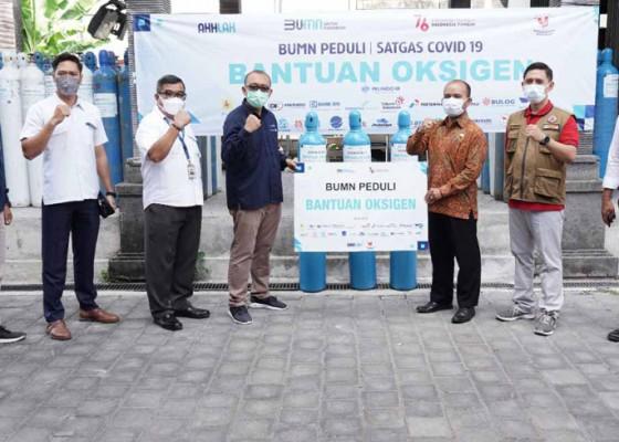 Nusabali.com - satgas-bencana-bumn-di-bali-gelontor-bantuan-oksigen