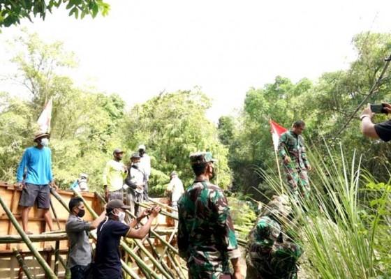 Nusabali.com - kodam-ixudayana-bangun-proyek-irigasi-untuk-220-ha-sawah
