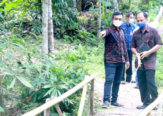 Nusabali.com - wabup-ipat-tinjau-jalan-rusak-dan-jembatan-darurat-di-pende