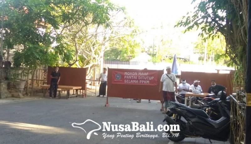 www.nusabali.com-jelang-banyupinaruh-pantai-mertasari-dijaga-ketat