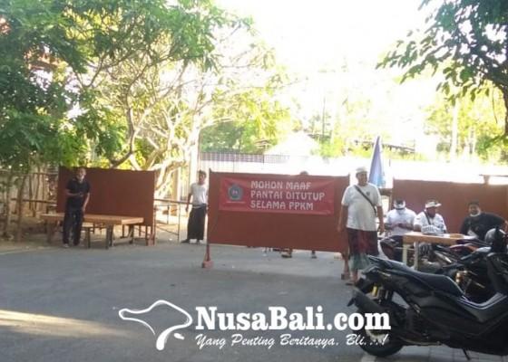 Nusabali.com - jelang-banyupinaruh-pantai-mertasari-dijaga-ketat