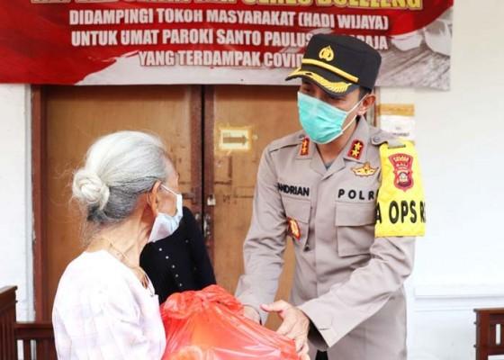 Nusabali.com - polres-buleleng-salurkan-bantuan-250-paket-sembako