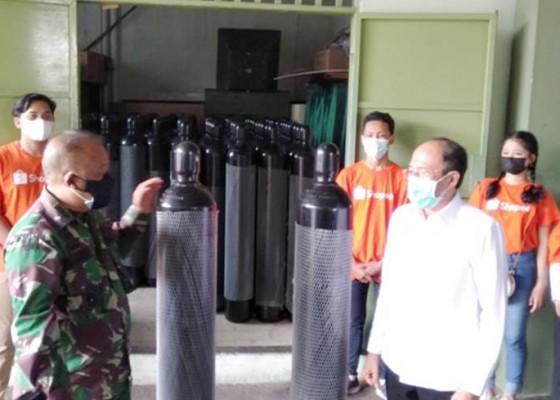 Nusabali.com - kodam-salurkan-6-ton-oksigen-ke-pemprov-bali