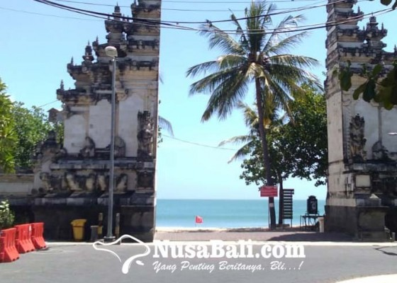 Nusabali.com - pantai-kuta-dibuka-kembali-sertifikat-vaksin-pengunjung-diperiksa-secara-manual
