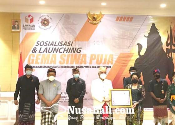 Nusabali.com - bawaslu-mda-teken-mou-gema-siwa-puja