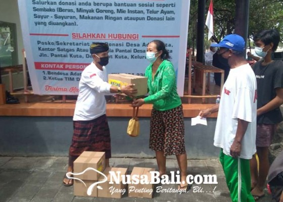 Nusabali.com - warga-kuta-dapat-bantuan-sembako-secara-bergiliran