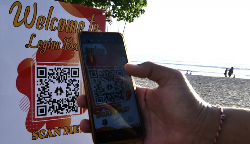 www.nusabali.com-pantai-legian-berlakukan-qr-code-bagi-wisatawan
