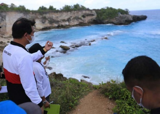 Nusabali.com - bupati-suwirta-cek-3-objek-wisata-di-lembongan-ceningan