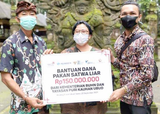 Nusabali.com - bantuan-pakan-kera-sebesar-rp-450-juta
