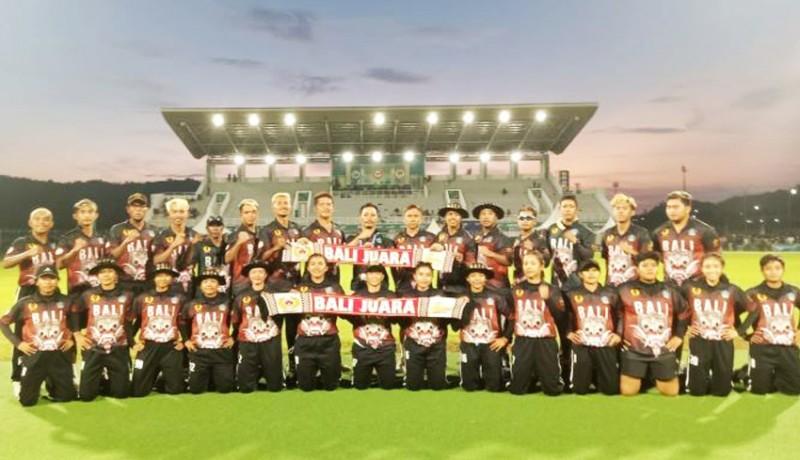 www.nusabali.com-tim-cricket-bali-raih-medali-emas-dan-perak-pon-xx-papua