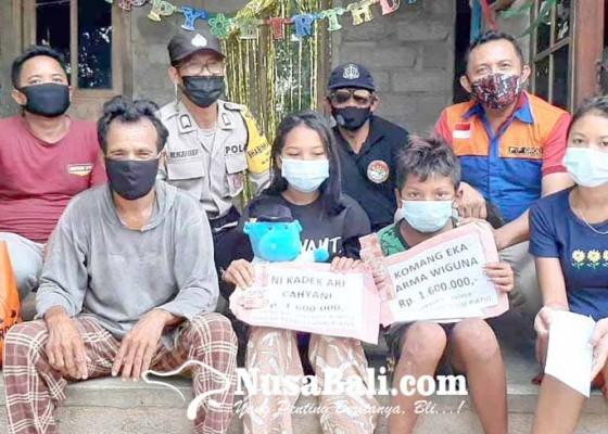 Nusabali.com - lima-siswa-yatim-piatu-dapat-bantuan-bekal-sekolah