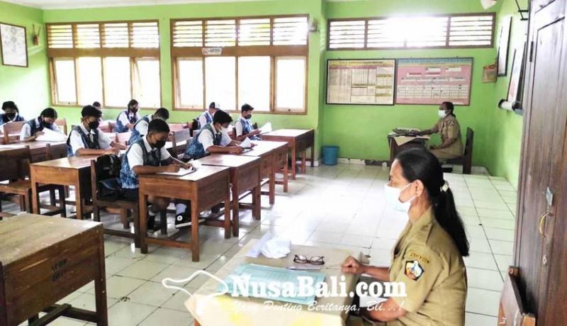 www.nusabali.com-hari-pertama-ptm-smpn-2-bangli-gelar-pts