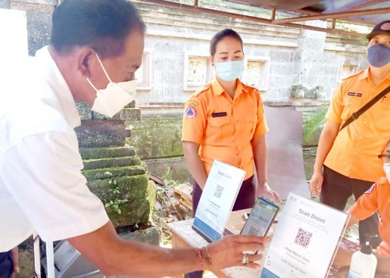 Nusabali.com - masuk-kantor-bupati-jembrana-wajib-scan-pedulilindungi