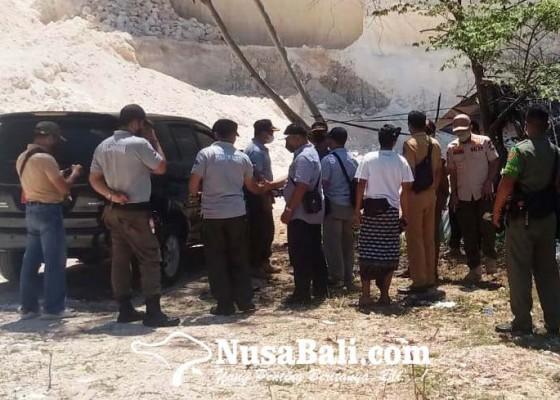 Nusabali.com - petugas-gabungan-datangi-aktivitas-galian-c-di-pecatu