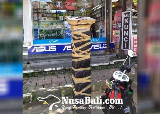Nusabali.com - tak-berfungsi-5-mesin-e-parkir-dilakban