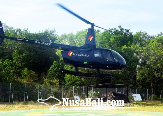 Nusabali.com - wisatawan-domestik-gandrungi-tour-heli-keliling-kuta-selatan