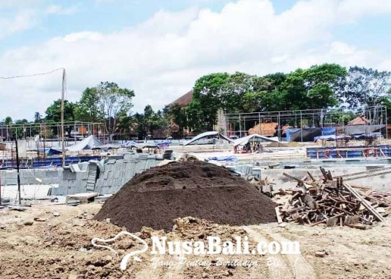 Nusabali.com - ppk-optimis-pekerjaan-alun-alun-kota-bangli-tepat-waktu