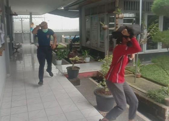 Nusabali.com - penghuni-rutan-dilatih-tanggap-darurat-bencana-alam