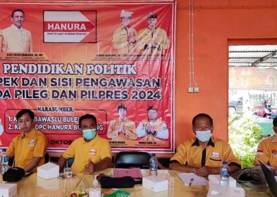 Nusabali.com - gandeng-bawaslu-buleleng-hanura-gelar-pendidikan-politik