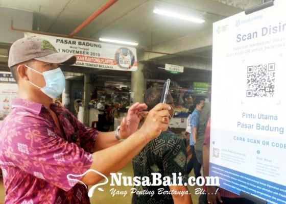 Nusabali.com - aplikasi-pedulilindungi-di-pasar-badung