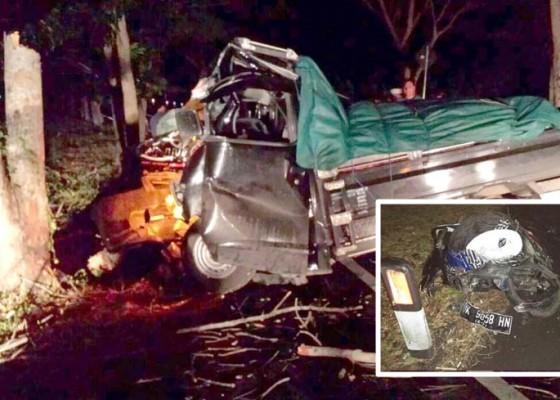 Nusabali.com - dihantam-pick-up-pemotor-tewas-di-tkp