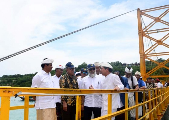 Nusabali.com - wagub-sudikerta-hadiri-peresmian-jembatan-kuning