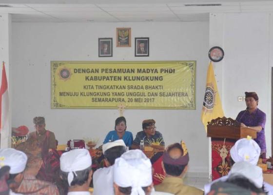 Nusabali.com - phdi-klungkung-gelar-pasamuan-madya