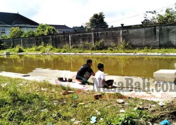 Nusabali.com - kolam-renang-tak-terurus-dijadikan-kolam-ikan