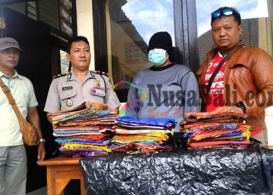 Nusabali.com - pencuri-kain-endek-diringkus
