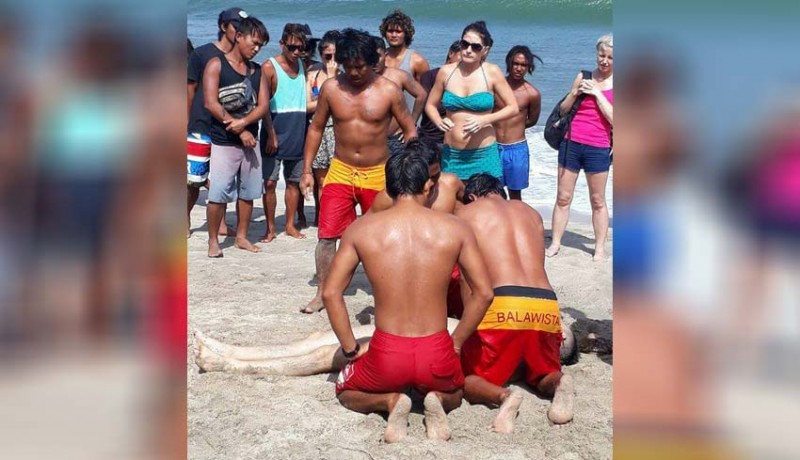 www.nusabali.com-turis-tenggelam-1-tewas-1-kritis