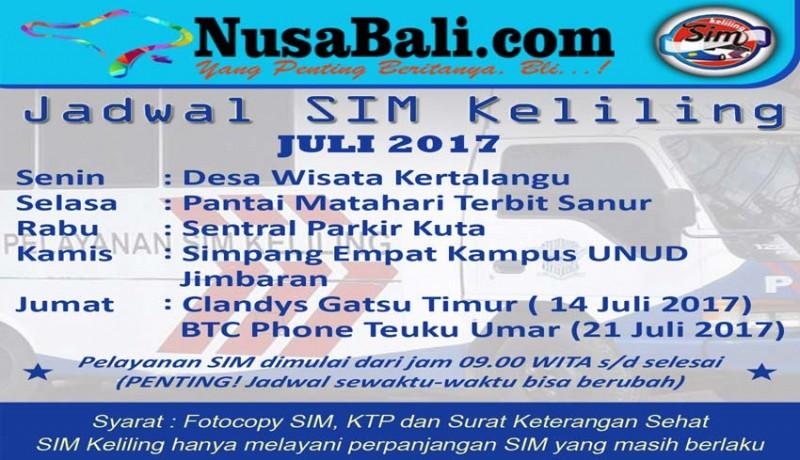 Nusabalicom Jadwal Sim Keliling