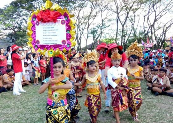 Nusabali.com - karnaval-paud-semarakkan-kemah-pramuka-kwarran-kediri