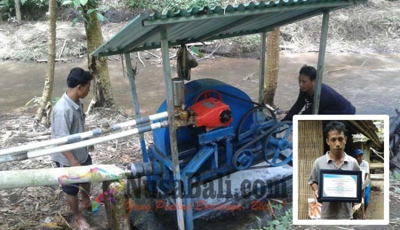 Nusabali Com Lulusan Paket B Ciptakan Pompa Kincir Air Tanpa Listrik