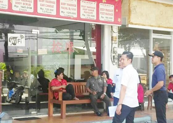 Nusabali.com - satpol-pp-temukan-28-spa-tak-berizin