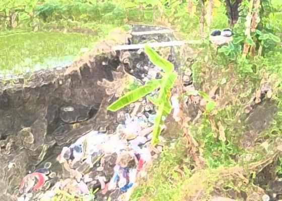 Nusabali.com - saluran-irigasi-ambrol-tanah-longsor