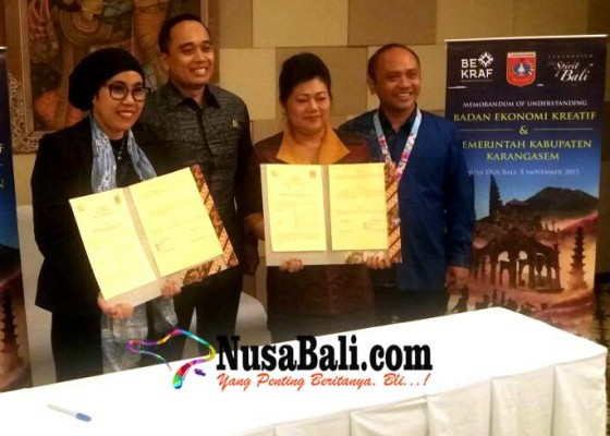 Nusabali.com - pemkab-karangasem-mou-dengan-bekraf-ri