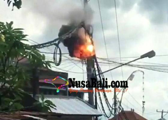 Nusabali.com - beban-tinggi-jaringan-kabel-listrik-terbakar