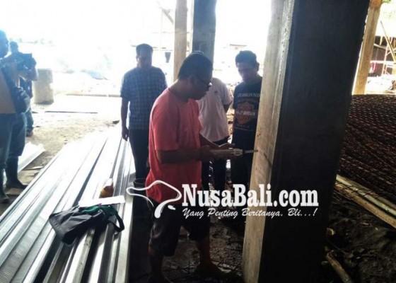 Nusabali.com - disperindag-tes-beton-proyek-pasar-lokacrana