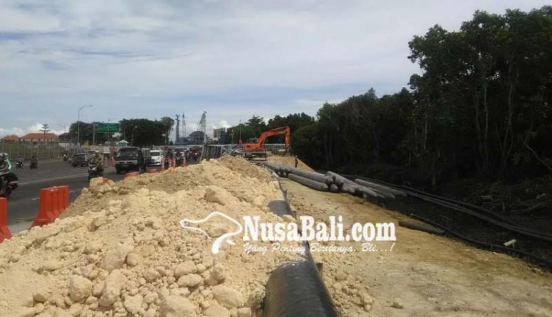 www.nusabali.com-pasir-proyek-underpass-didatangkan-dari-luar-bali