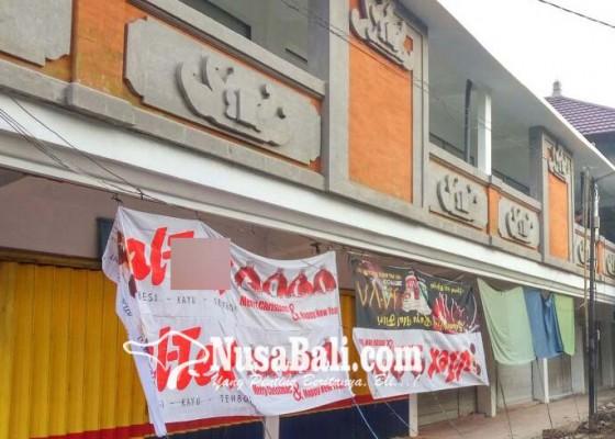 Nusabali.com - puluhan-pedagang-tolak-perbaikan-ruko