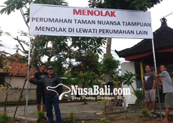 Nusabali.com - warga-tnt-protes-pengembang-baru
