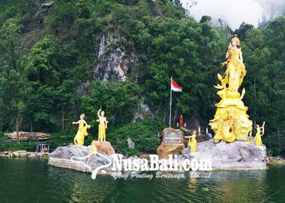 Nusabali.com - patung-dewi-danu-tertinggi-dan-terbesar-di-indonesia