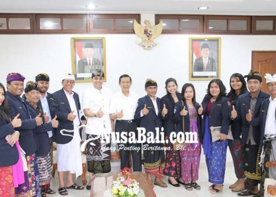 Nusabali.com - rakernas-di-bali-karang-taruna-temui-pastika
