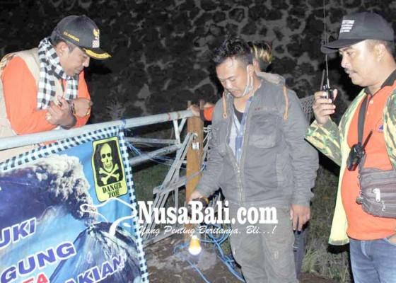 Nusabali.com - pasebaya-gunung-agung-pasang-portal-permanen