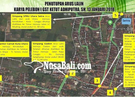 Nusabali.com - sejumlah-arus-lalin-di-jalan-raya-kerobokan-dialihkan