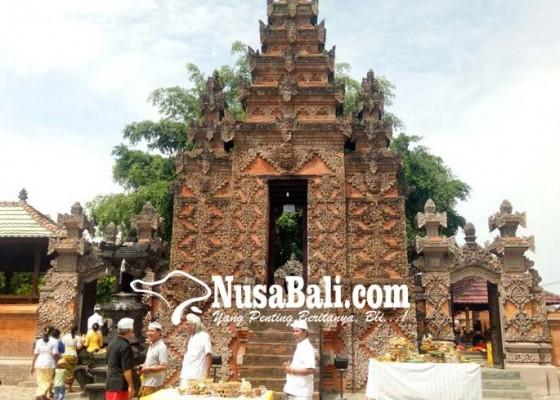 Nusabali.com - bangunan-pura-bale-agung-direkonstruksi