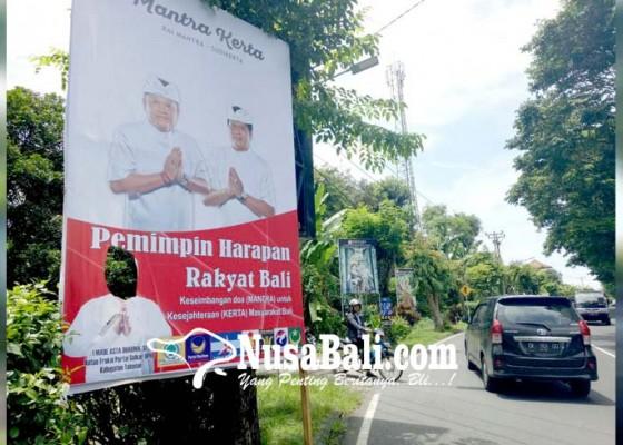 Nusabali.com - baliho-cagub-cawagub-ditemukan-robek